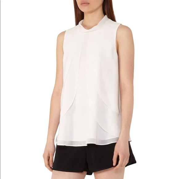 3a1b64370e455e Reiss Tops | Nwt Macau Ruffle Front Blouse In Off White | Poshmark